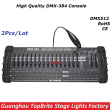 Big Discount 2XLot 384 Channels DMX 384 controller LED Display For Stage Disco Lighting DMX 512 Console DJ Controller Equipments(China)