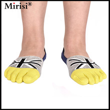 Pre-sale High quality Men's comfortable health five toe sock Invisible Five Toe Sock hand linking toe sock 6pairs/lot