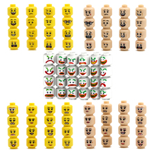Building Block Accessories DC Super Hero Face Emoji Expression Color Cool Man Boy Kids DIY Xmas Toys Compatible with Legoe