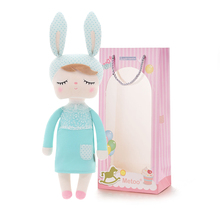 "Metoo Rabbit Angela Plush Mint Bunny Dolls Girl Wear Skirt Plush Toys Stuffed Gift Toys for Kids Girls 18*4"" for Gifts(China)"
