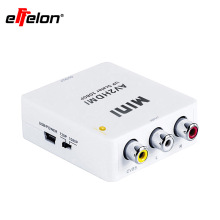 Effelon High Quality Mini RCACVS 3 RCA Composite Video AV to HDMI Converter for TV/PC/PS3