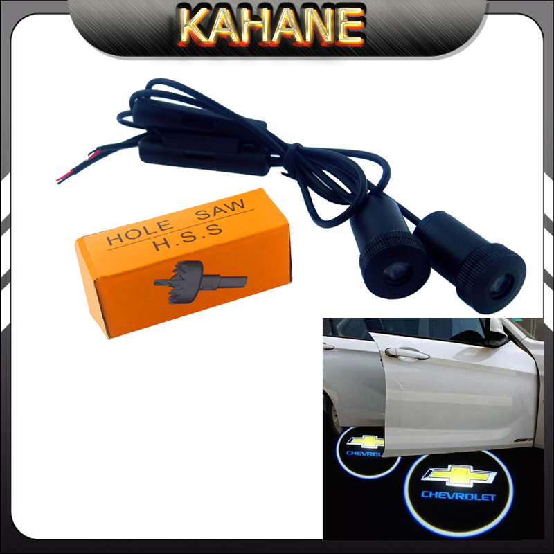 2 X car door light ghost shadow welcome light logo projector emblem For chevrolet cruze aveo captiva niva lacetti<br><br>Aliexpress