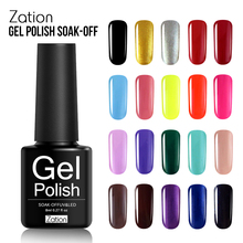 Zation Long Last 8ML Fashion Product Gel Nail Polish UV LED Semi Permanent Colorful Lacquer or Gel Nail Paint for Manicure Art(China)