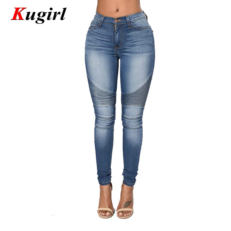 fashion Autumn Winter Solid Women Jeans Casual Fashion High Wasit Biker Jeans For Female Denim Skinny Pencil PantsОдежда и ак�е��уары<br><br><br>Aliexpress