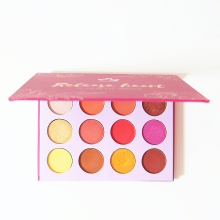 AURELIFE Maquiagem Glitter Eyeshadow Pallete Shimmer & Matte Eye shadow Red Orange Yarrow Pink Makeup Pallete Cosmetics(China)