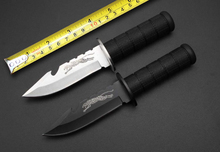 Tactical Small Straight Knife 3CR13 Blade Rubber Handle Hunting Knife Camping Fixed Blade Knives Multi Survival Rescue Tools