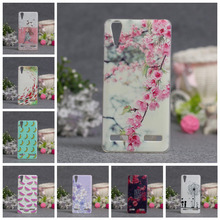 "3D Style Cartoon Back Cover Soft Case For Lenovo A6010 & A6000 & for Lenovo Lemon K3 K30-T Cover Skin 5"" K 3 A 6000 6010"