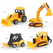 2017 NEW HOT SALES 1:64 Alloy Engineering Vehicles Kids Excavator Model Car Intelligence Educational Model(China)