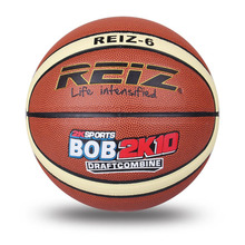 REIZ High Quality Size 6 leather Basketball Balls Outdoor Indoor Mens Training Basket Ball Basquete practice competition(China)
