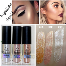 2016 New Brand Makeup Gold Highlighter Liquid Cosmetic Face Contour Brightener Glow Shimmer Liquid Highlighter Makeup Kit(China)