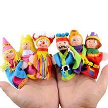Details about 6 pcs AnimalsToy Finger puppets Hand Puppet Parent Child Time Interactive(China)