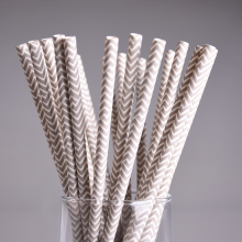 25pcs/lot Gray wavy paper straws for kids birthday party christmas wedding decoration chevron drinking paper straws