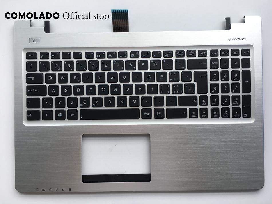 SW Swiss keyboard For Asus K56 K56C K56CB K56CM K56CA A56 A56C palmrest keyboard SW Layout