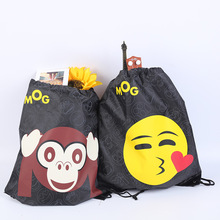 New Hot Emoji Oxford Storage Bags Organizer Waterproof Drawstring Backpack Baby Kids Toys Travel Shoes Laundry Lingerie Cartoon(China)