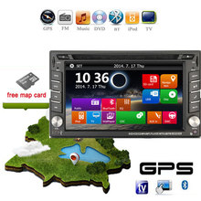 "Universal 2 Din 7"" In Dash Car DVD Player GPS/ Radio/FM/USB/SD/Bluetooth/TV HD digital touch screen full popular function free"