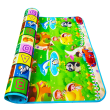 200x180cm Double Sided Animal Car+Fruit Letter Play Mats Crawling Pad Kids Game Carpet Toys for Children Baby Developing Rug