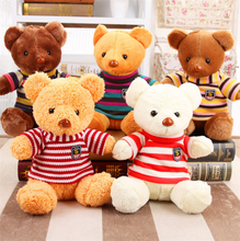 1pieces Cartoon Plush Tatty Teddy Bear Toys Jumbo Stuffed Dolls Bears valentine's day  Baby&Kids  Gift 28cm