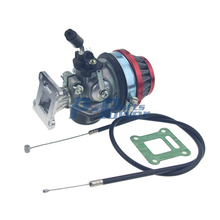 Performance Carburetor Carb Kit with Throttle Cable  For 2 Storke 47 cc 49 cc Pocket Mini Bike Motorized Bicycle