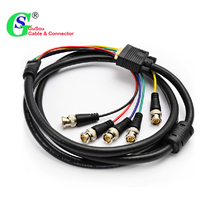 GuSou VGA DVI to RGBHV Component 5x BNC Breakout Video Adapter Cable DVI-I 24+5(China)