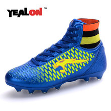 YEALON Man Soccer Shoes Football Cheap Soccer Boots Cleats Superfly Soccer Shoes Football Cleats Cheap Superfly 2016 High Ankles