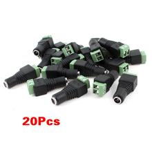 Promotion!Gino 20pcs CCTV Camera 5.5 x 2.1mm DC Power Cable Female Plug Connector Adapter Jack(China)