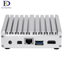 Small PC with fanless i7 4602Y Micro computer Intel HD Graphics Nuc with windows 10 HDMI mini DP mini pc Plam Size tv box