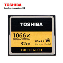 TOSHIBA Memory Card 32GB EXCERIA Pro Compact Flash CF Cards VPG-65 High Speed 1066x 160MB/s UDMA7 For CANON NIKON Digital Camera