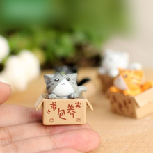 1Piece 1.5*2.0cm Resin Ornaments Mini Cat Kitten Model Doll Miniatures Mediterranean Style Table Living Room Pots P20