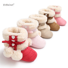 New Fashion Baby Booties Kids Newborn Children Infant Girls Winter Warm Snow Boots Fleece Baby Boot Fur Shoes 0-18M(China)