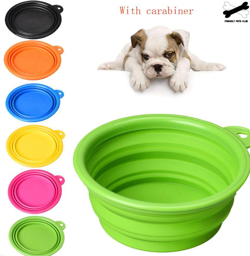 Silicone Pet Travel Bowl for Dog Cat Feeding Water Dish Feeder Foldable