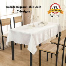 Free Shipping 1PC Europe Brocade Jacquard Table Cloth for Wedding Decoration Home Restaurant Hotel Table Linen Event Supplier
