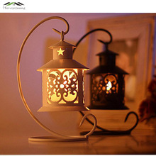 Metal Bird Cage Wedding Candle Holder Lantern Morocco Vintage Small Lanterns For Candles Decorative Cages Moroccan Lamp 004(China)