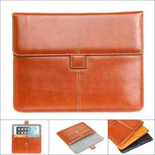 "Universal Business Sleeve Tank Bag Leather Case for iPad 9.7"" Ultrathin Briefcase Wallet Card Cover Case for iPad 2 3 4 Air Air2"