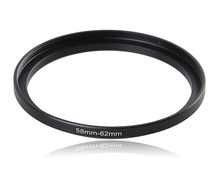 58-62mm Metal Camera Lens Filter Adapter Ring Thread Male 58mm to Female 62mm Step Up Mount UV CPL ND2 4 8 16 Filter