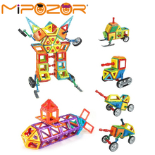 MIPOZOR 201 Pcs 2017 Magnetic Designer Construction Building Blocks Kids Educational Toys Engineering Series Robot 3D Bricks(China)