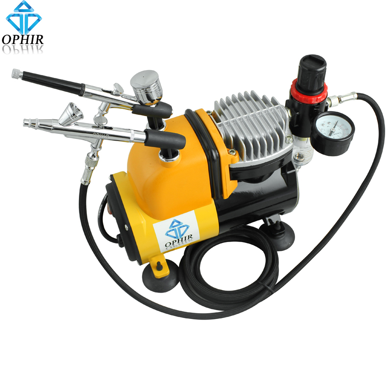 OPHIR 110V  Pro Airbrush Compressor Kit with Air Tank for Cake Decoration _AC053+AC004+AC073<br><br>Aliexpress