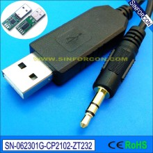 Linux win7 8 10 android mac cp2102 usb serial rs232 to 3.5mm jack for galileo board console cable(China)