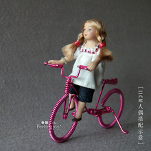 Mini toy house simulation Special accessories model props mini simulation hand - made metal wrought iron bicycles(China)
