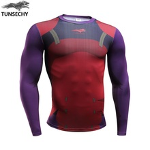 TUNSECHY brand 3 d printing dynamic transport fashionable man long sleeve T-shirt brand design original hot style t-shirts(China)