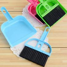 Mini Plastic Computer Desk Keyboard Desk Table Brush set Dustpan Broom Notebook Cleaner set randomly(China)