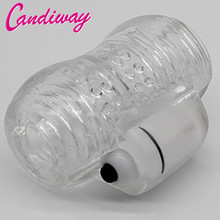 CandiWay Man Masturbation Vibrator Realistic Artificial Vagina Pocket Pussy, Male Cup, Hand Job Products, Adult Sex Toys for Men(China)