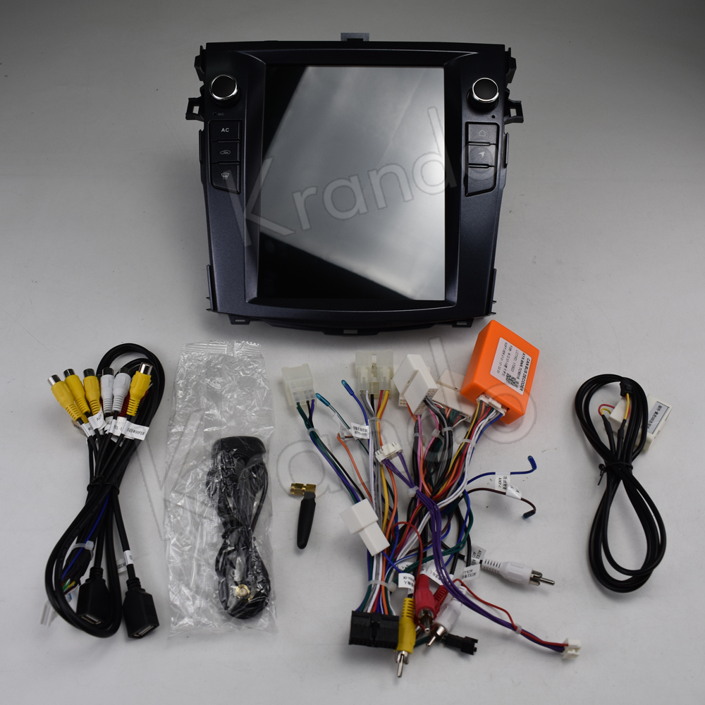 Krando Vertical screen android car radio multimedia for Toyota corolla 2008-2012 Big screen navigation with gps system (11)