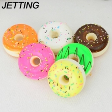 JETTING 5CM Squishy Mini Donut Key Chain Chocolate Noodles Sweet Roll Phone Charms Straps 1PCS wholesale
