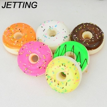 JETTING 5CM Squishy Mini Donut Key Chain Chocolate Noodles Sweet Roll Phone Charms Straps 1PCS wholesale(China)