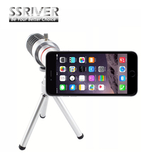 SSRIVER for iPhone 6 Plus 18x Gopro Smartphone Lens 18x Optical Zoom Camera lens Cover Case 18x Zoom lens Tripod Case Lens