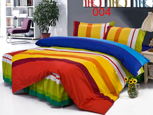 Twin Full Queen Rainbow Polyester Bed Skirt 4Pcs Bedding Set Dust Ruffle Set Bedclothes Sets Duvet Cover Quilt Cover Pillowcase(China)