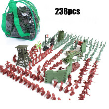 BOHS Bag Packed Army Man Set 238pcs/set Toy Soldiers Training Military Base From A Batch Of Children Action Figure(China)