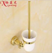 Bathroom accessories manufacturers wholesale gold toilet brush holder suit toilet cleaning brush toilet cleaning brush elbow