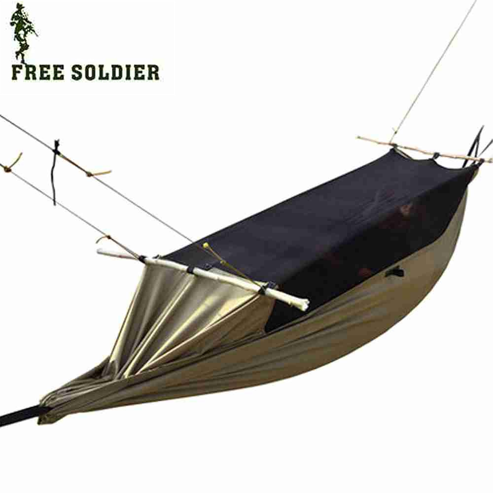 Free soldier Outdoor Multifunctional Portable Camping Tent Hammock Anti-mosquito Waterproof Hanging Bed<br>