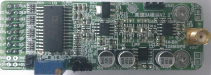 High Speed DA AD9764 Module, 14 Bit Parallel DA, 125M Waveform, FPGA Development Board Matching<br>
